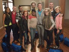 Panelist David Bromstad with HGTV Star Cast