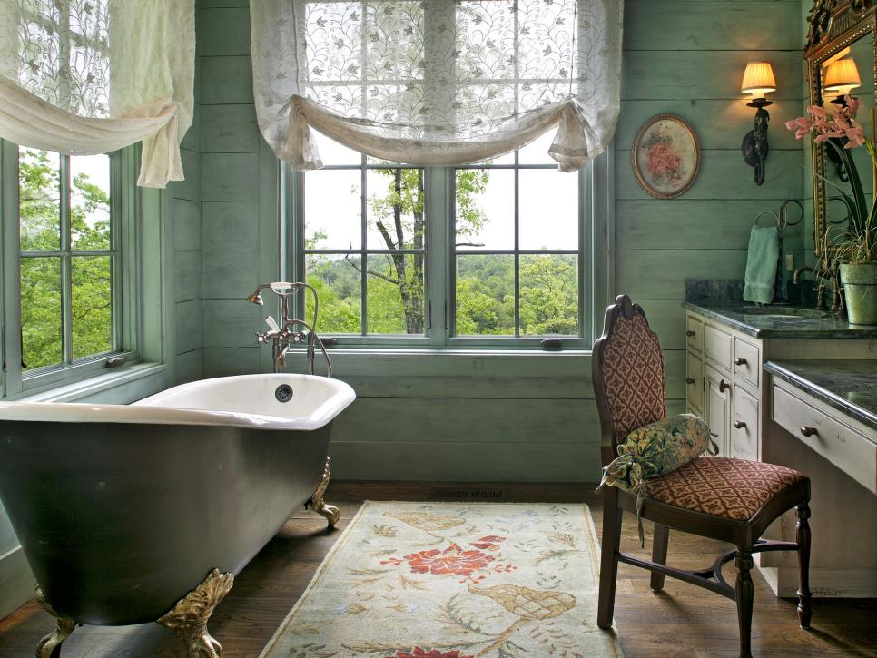 Bathroom Window Treatments For Privacy HGTV - Blinds for bathroom window in shower for bathroom decor ideas