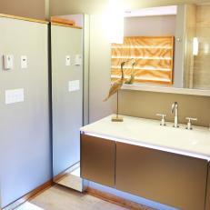 Modern Bathroom With LED Lighting
