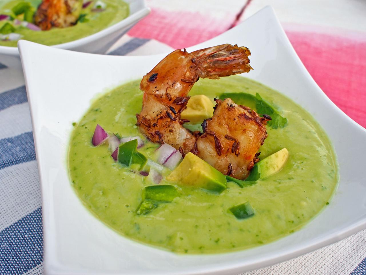 Grilled Cumin Shrimp and Avocado Gazpacho | Entertaining Ideas & Party ...