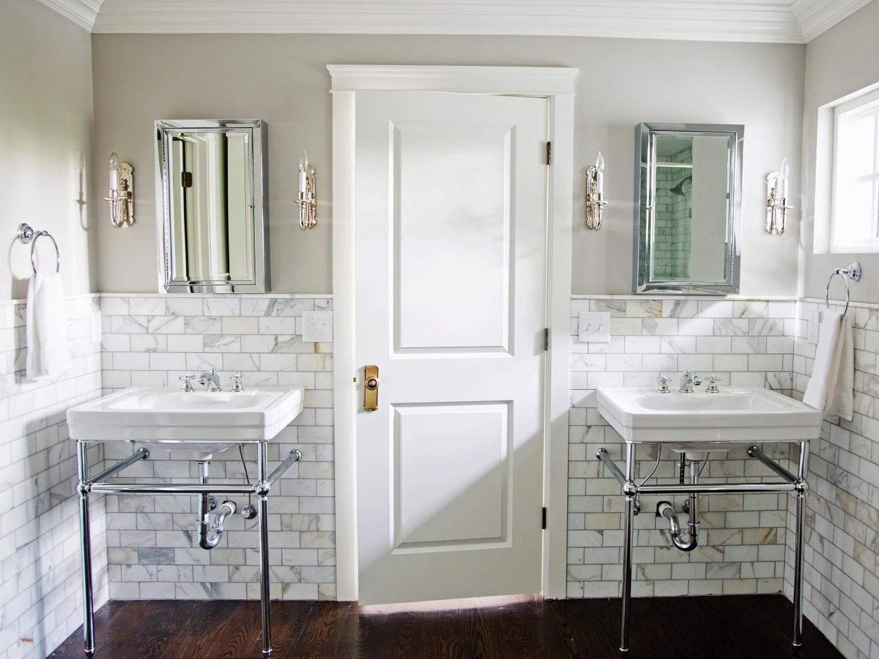 Gorgeous marble bathroom marianne brown hgtv Hgtv bathroom remodel pictures