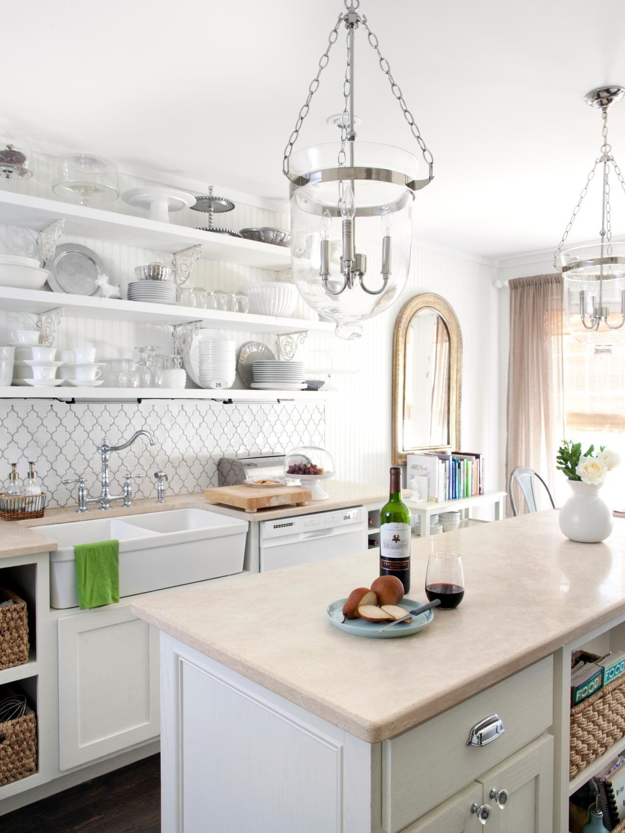 White Cottage Kitchen Milk And Honey Home Hgtv