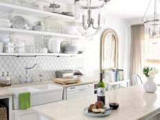All-White Kitchen With Island