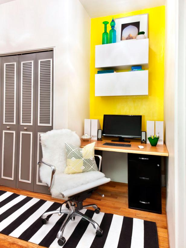 Contemporary Yellow Office