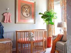 Orange and Gray Contemporary Nursery
