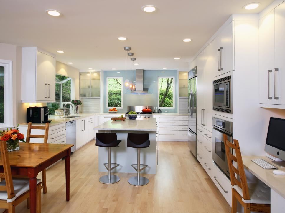 Contemporary White Kitchen Yuko Matsumoto Hgtv