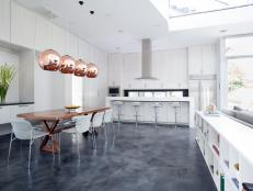 airy modern kitchen 4 photos - Modern Kitchen Flooring Ideas