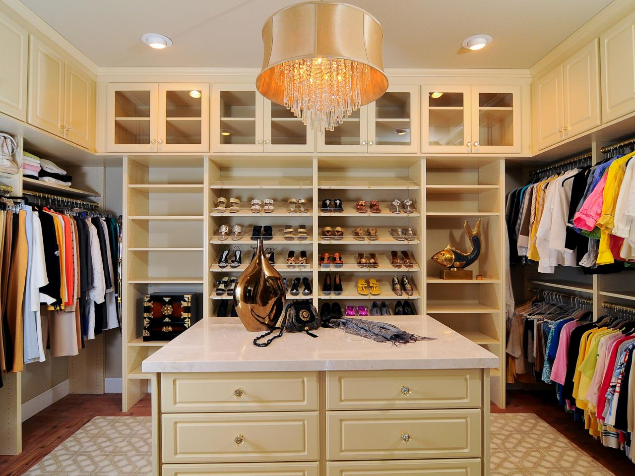 Luxurious feminine master closet kerrie kelly hgtv Walk in bedroom closets
