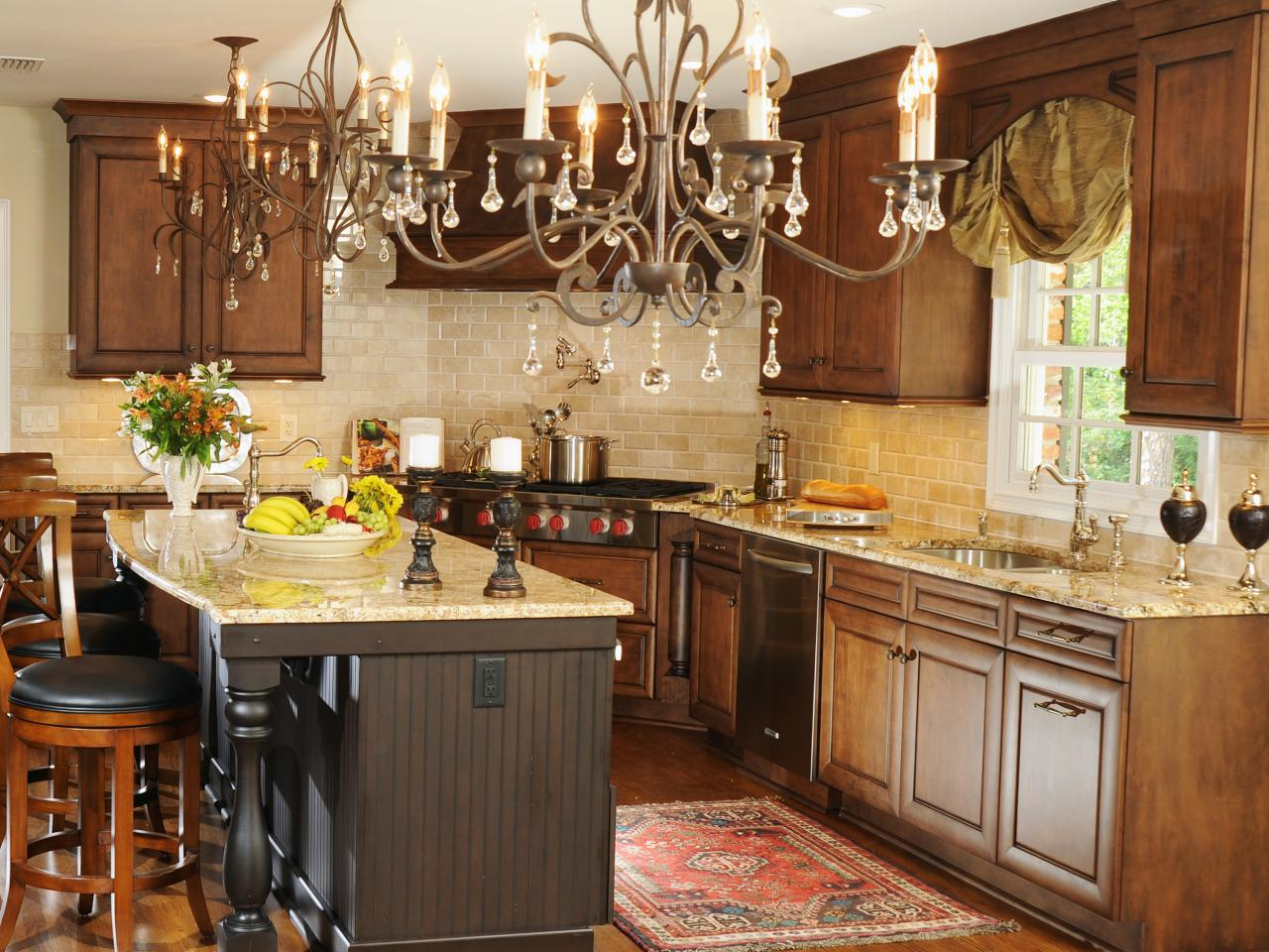 Kitchen design styles pictures ideas tips from hgtv hgtv - Country style kitchen cabinets design ...
