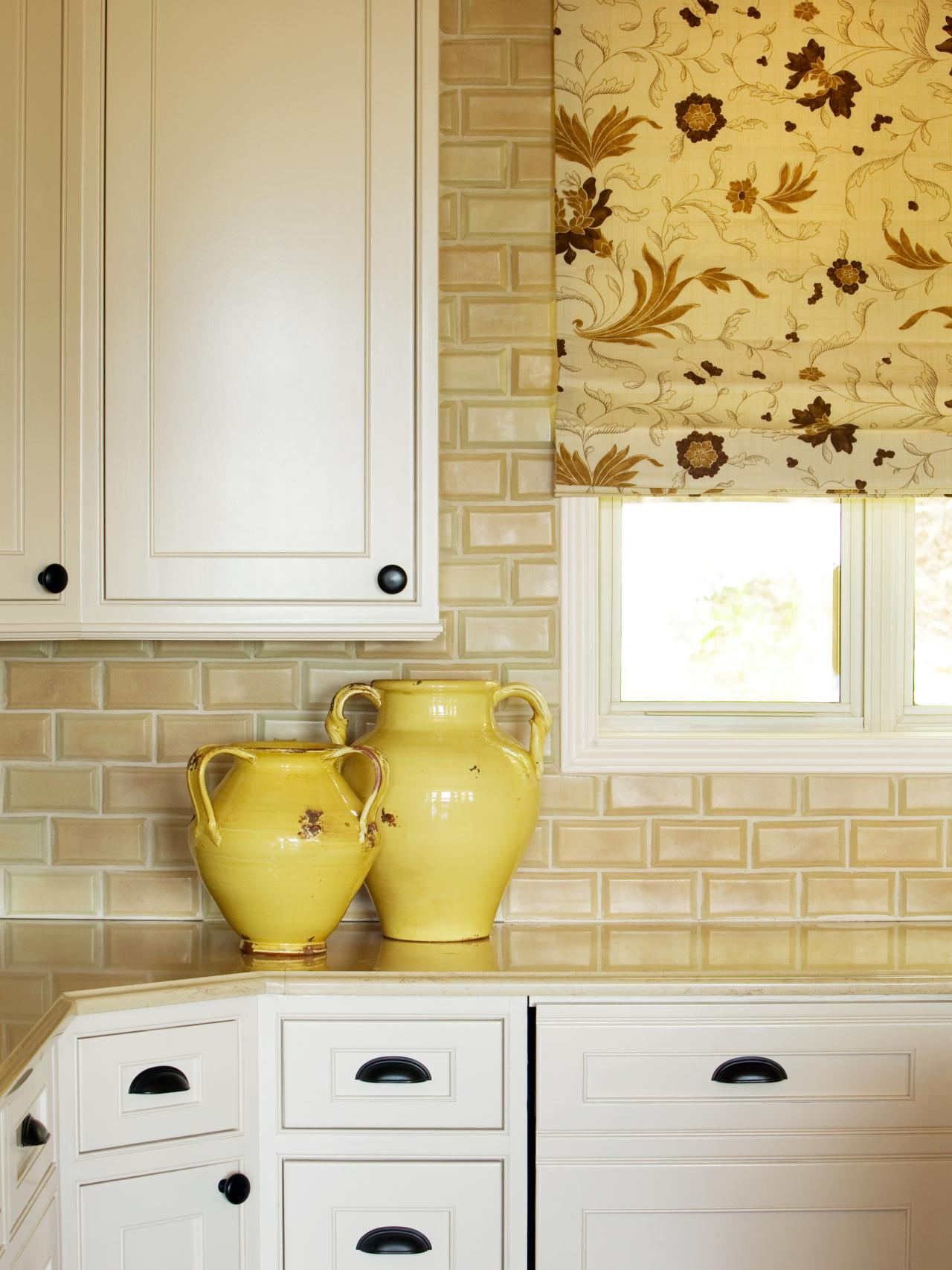 Kitchen Backsplash Yellow Walls tile for small kitchens: pictures, ideas & tips from hgtv | hgtv