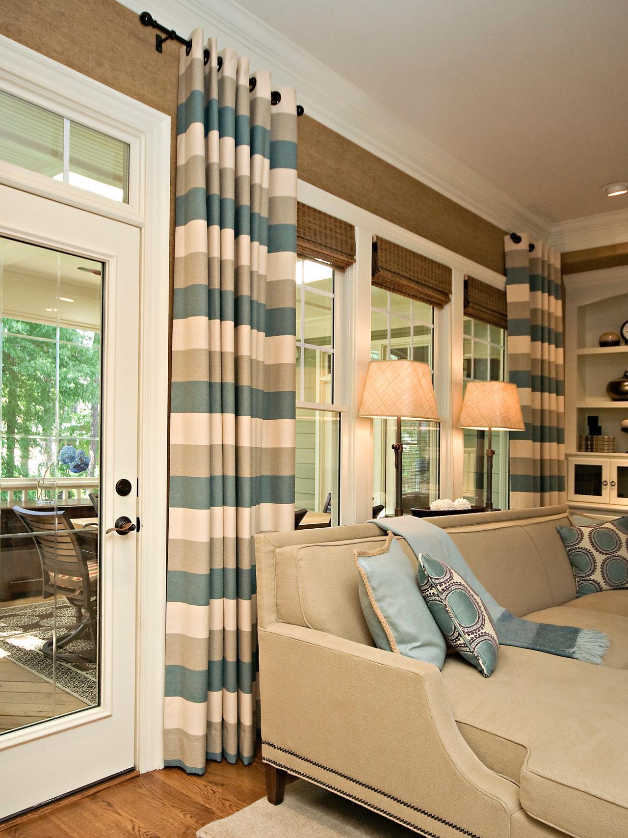 Window Treatment. Classic   Simple Family Room   Rebecca Driggs   HGTV