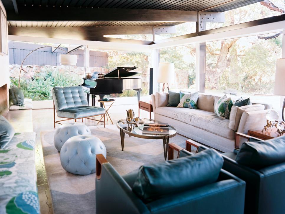 Mod Feminine Living Room