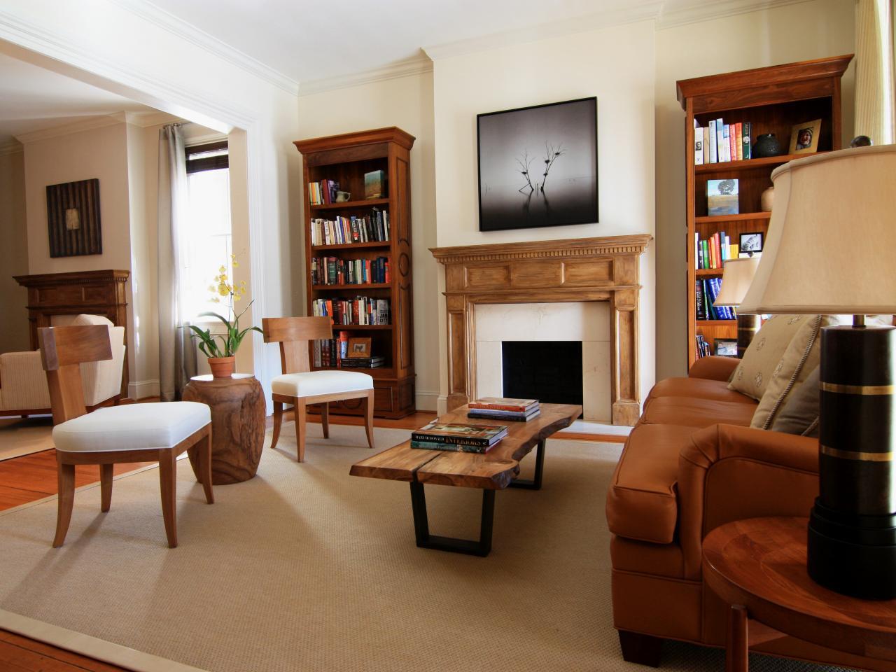 Transitional living room design ideas - Elegant Transitional Living Room
