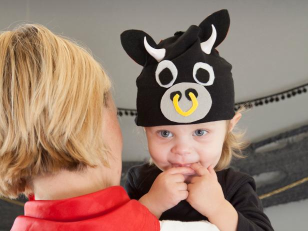 Easy-to-Craft Baby Bull Halloween Costume