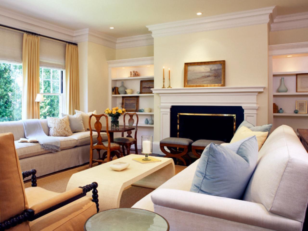 Traditional Living Room With Custom Sofa Hgtv