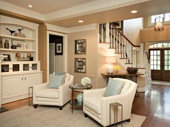Traditional Open Neutral Living Room