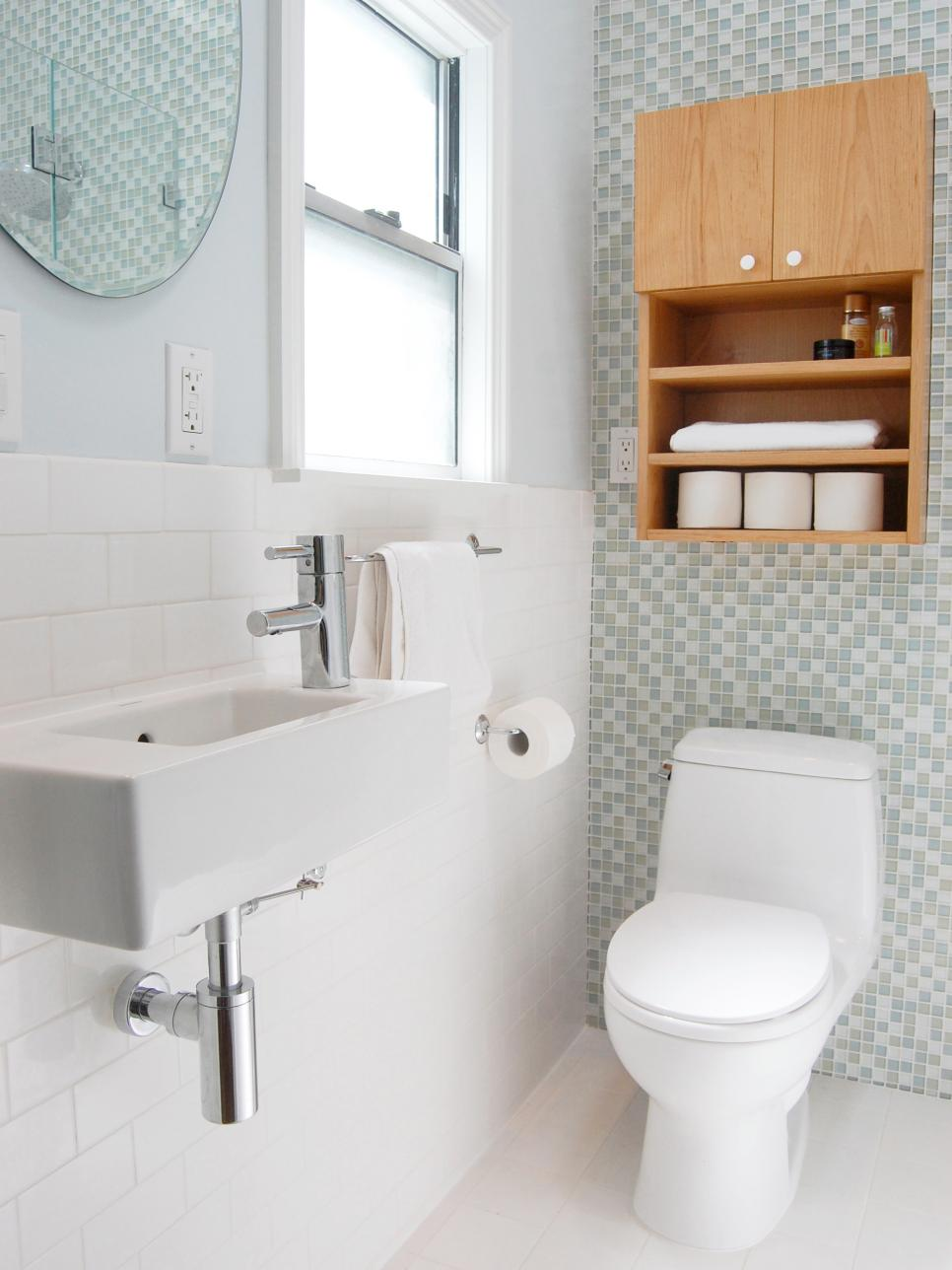Small space modern bathroom jennifer jones hgtv Hgtv bathroom remodel pictures