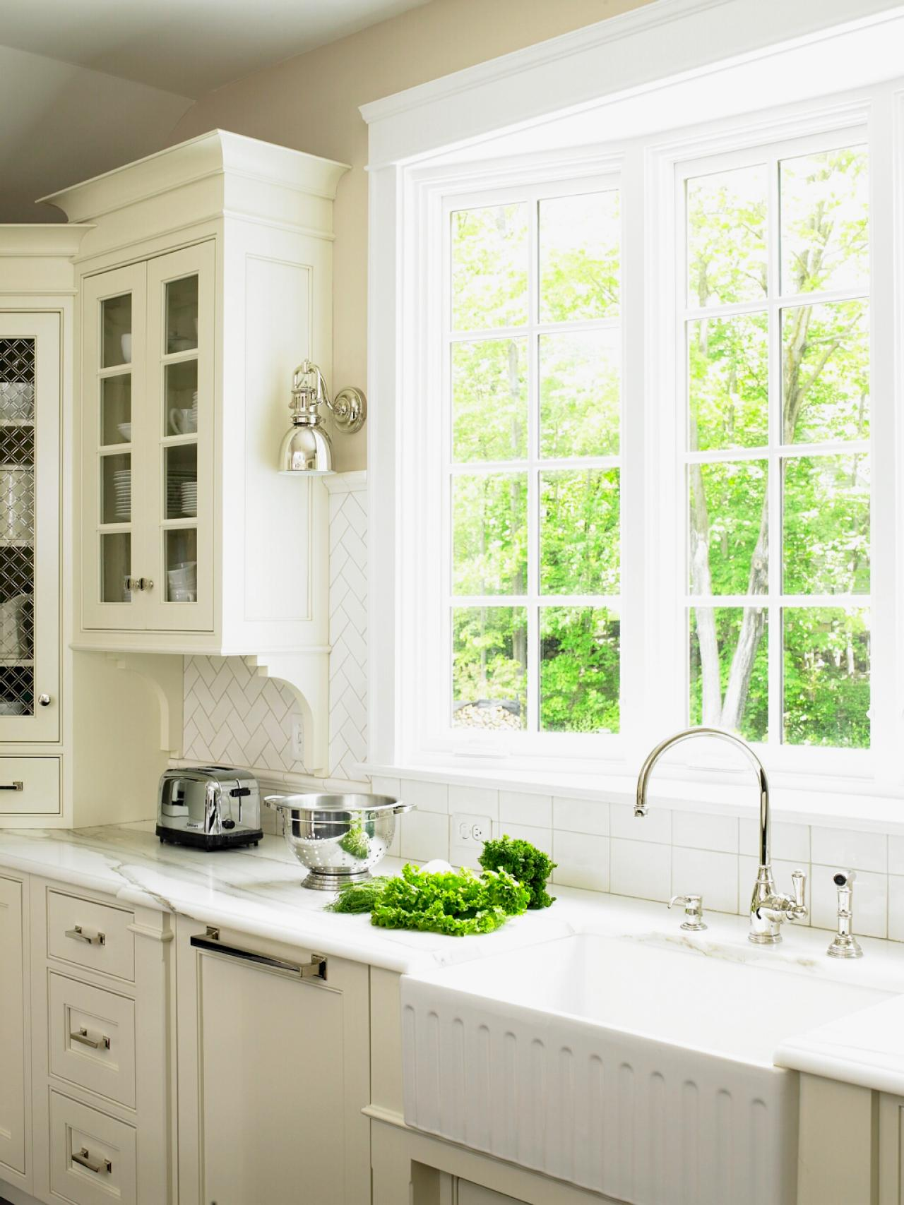 kitchen window treatments ideas: hgtv pictures & tips | hgtv