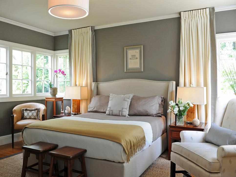 beautiful bedrooms 15 shades of gray hgtv - Grey Bedroom Designs
