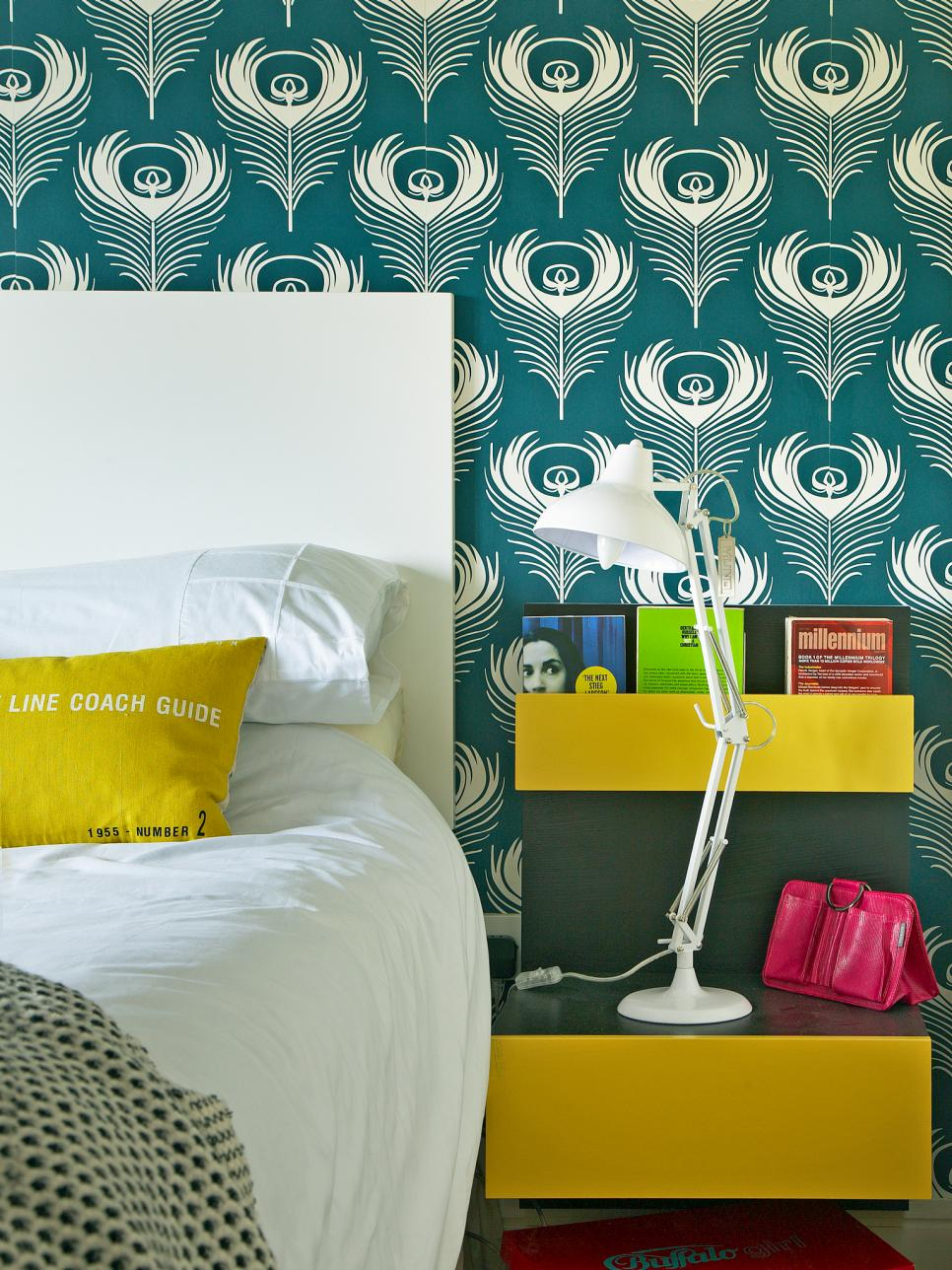 15 cheery yellow bedrooms hgtv Modern wallpaper for bedroom