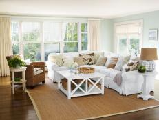 Open, Airy Coastal Living Room