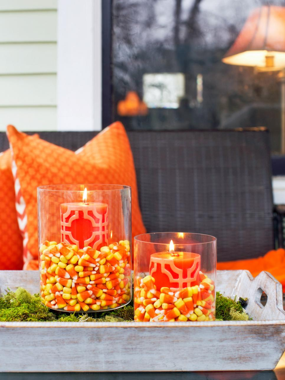 9 halloween front porch decorating ideas hgtv - How To Decorate For Halloween Outside