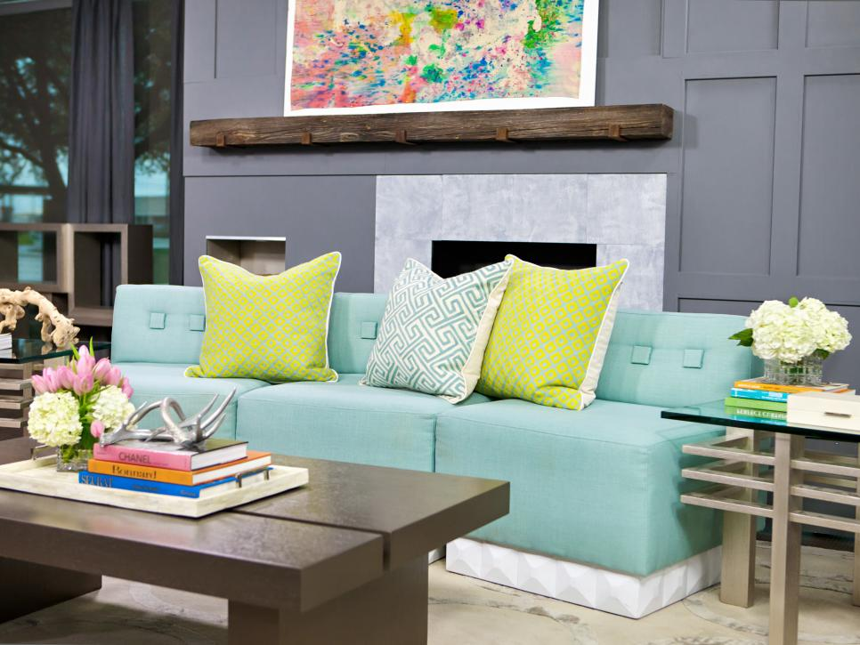 Blue Living Room Designs 20 living room color palettes you've never tried | hgtv
