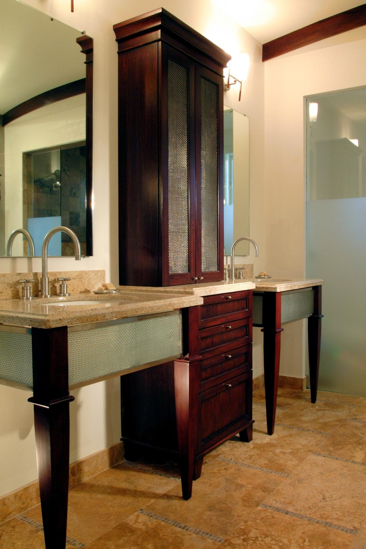 18 savvy bathroom vanity storage ideas bathroom ideas Bathroom vanity cabinet storage