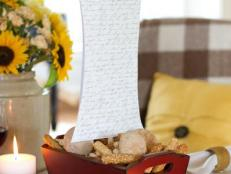 DIY Red and White Ship Thanksgiving Centerpiece