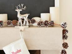 DIY Holiday Pinecone Garland