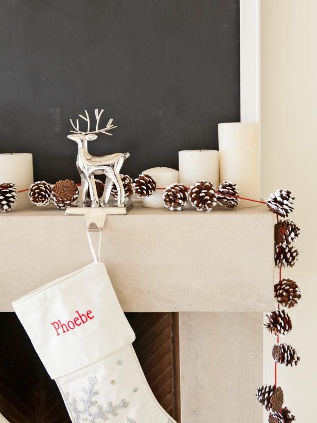 DIY Holiday Pinecone Garland