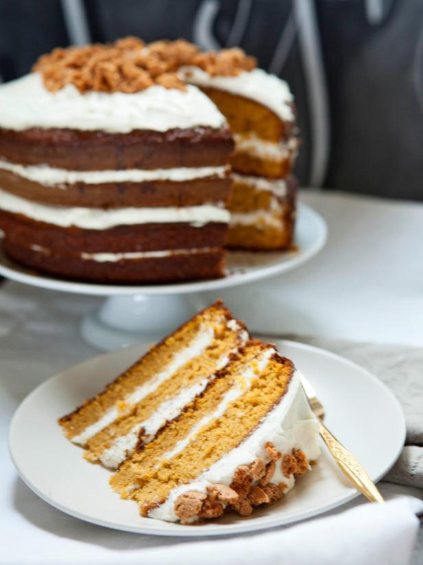 Cake Design Recipe : Pumpkin Tiramisu Layer Cake Recipe HGTV