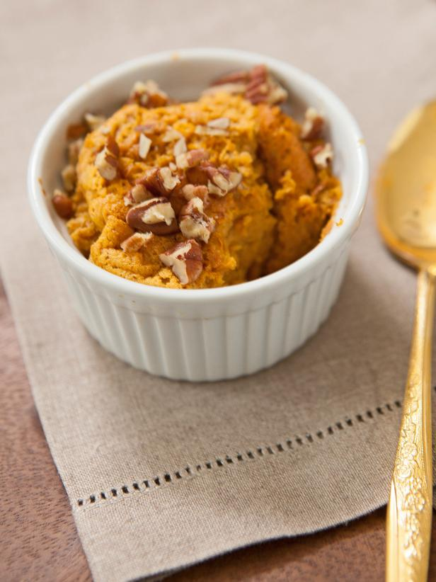 Individual Maple Sweet Potato Soufflé