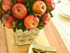 Apple Topiary Centerpiece and White Plates
