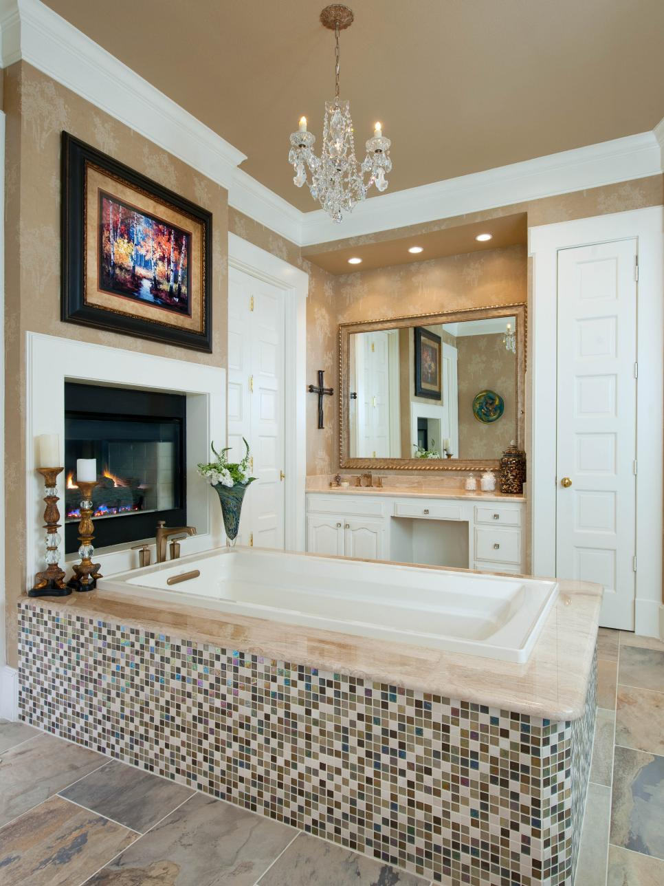 Glamorous master bathroom barbara gilbert hgtv for Bathroom designs hgtv