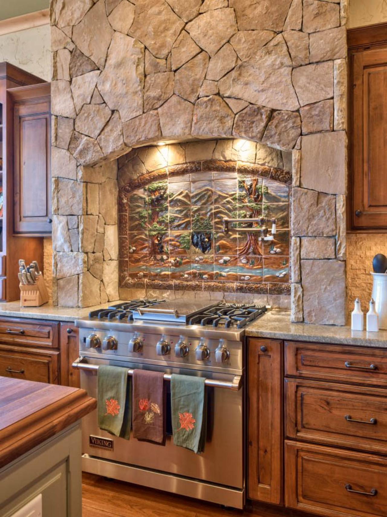 Rustic Stone Kitchen With Country Appeal Heather Guss Hgtv