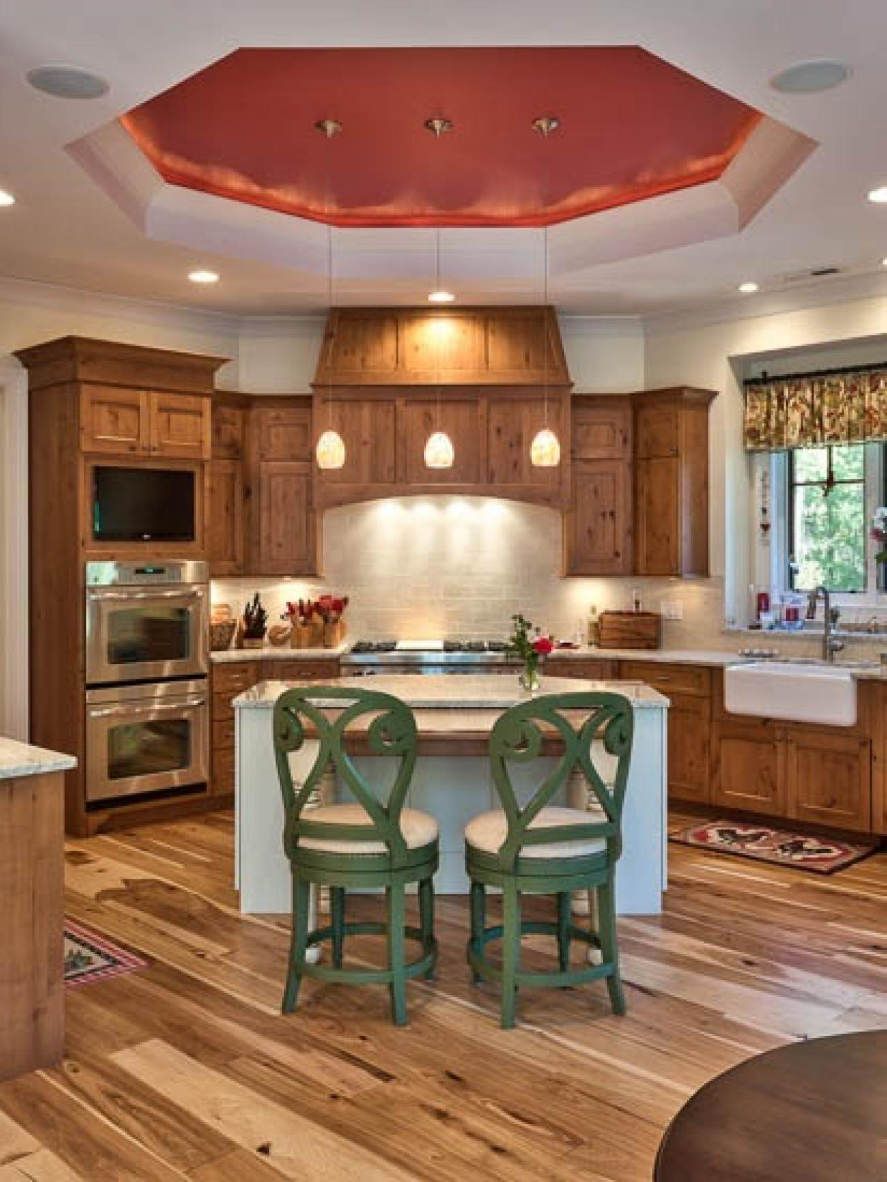 Painted kitchen chairs pictures ideas tips from hgtv for Red and brown kitchen ideas