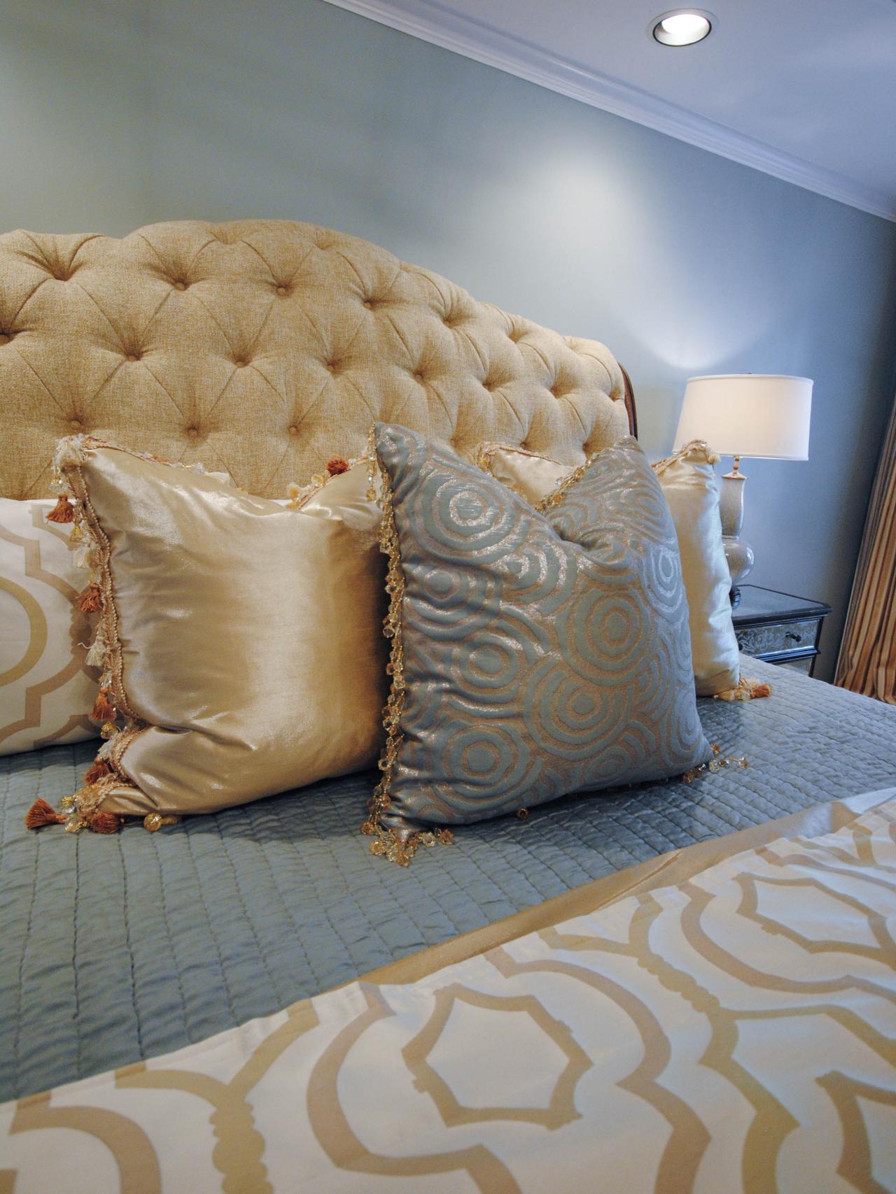Yellow & Gray Master Bedroom | Paisley McDonald | HGTV