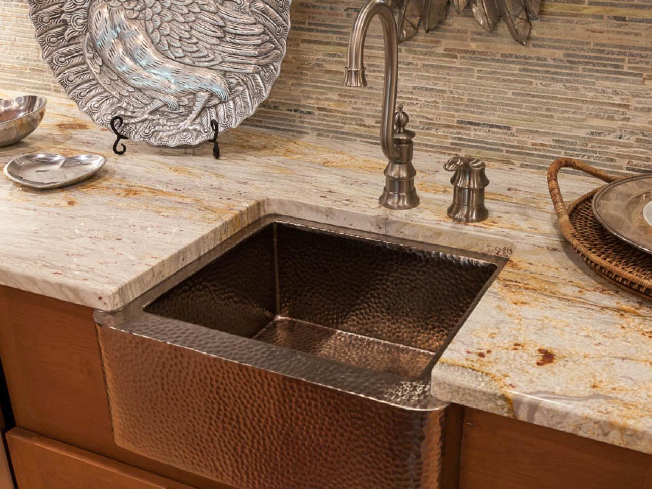 Farmhouse Bar Sink : copper farmhouse sink and tile backsplash this copper farmhouse sink ...