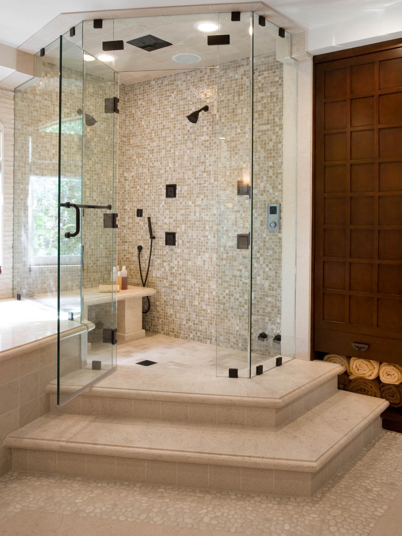 Spa inspired contemporary bathroom christopher grubb hgtv for Hgtv bathrooms