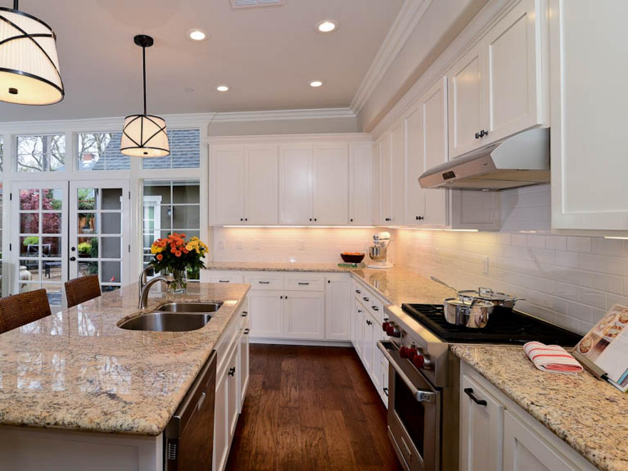 Transitional White Kitchen Transitional Open White Kitchen  Kerrie Kelly  Hgtv