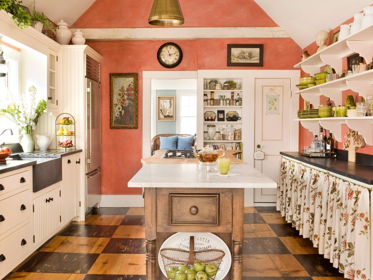 Colorful Kitchens Scandinavian Kitchen Decorated With Outstanding Decorative And