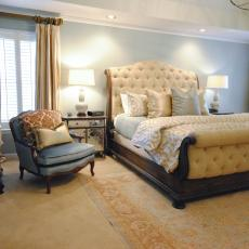 Transitional Master Bedroom yellow transitional master bedroom photos | hgtv