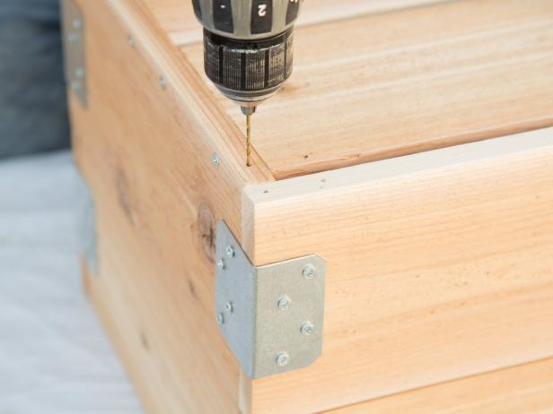 Drill Holes in Crate to Install Casters