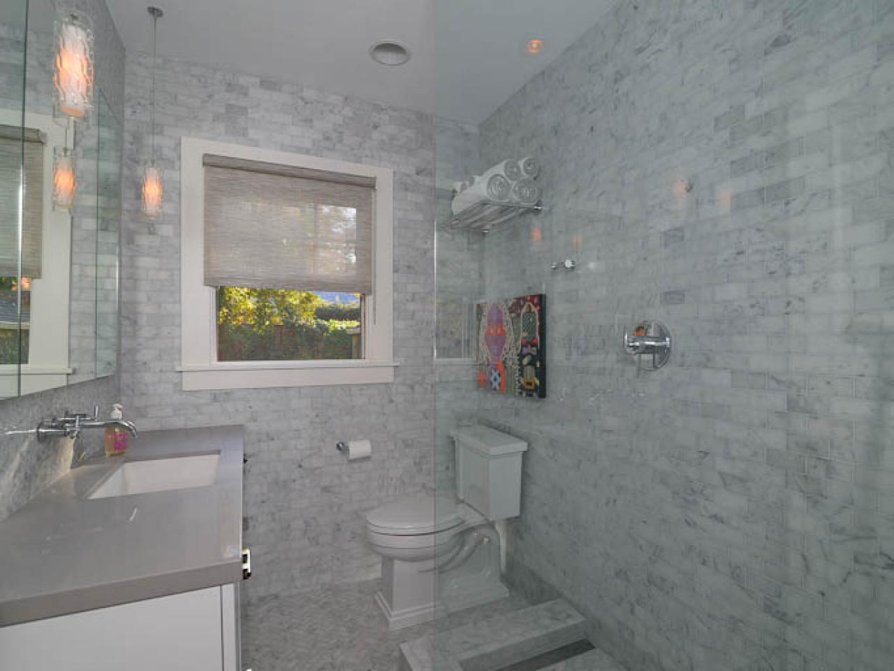 Contemporary marble bathroom kerrie kelly hgtv Contemporary bathrooms