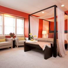Contemporary Canopy Beds orange master bedroom photos | hgtv