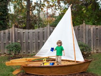 Backyard Sandbox Sail Boat