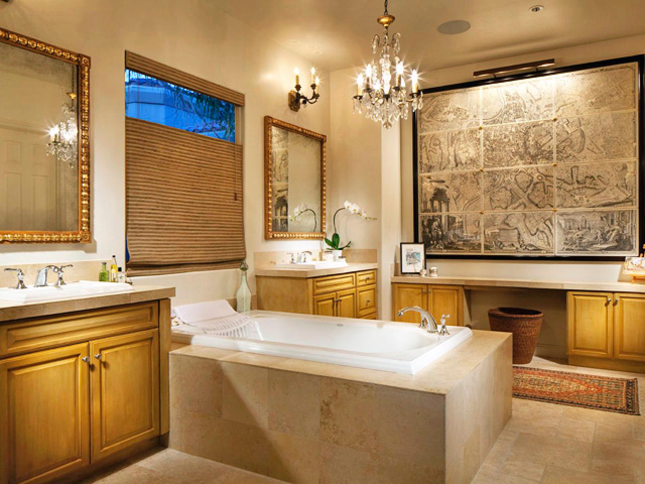 White bathroom decor ideas pictures tips from hgtv for Bathroom themes