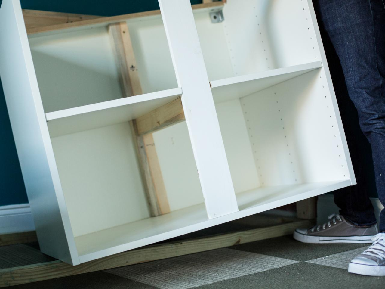 How to make bunk beds and bedroom storage with ready made - Beds attached to the wall ...