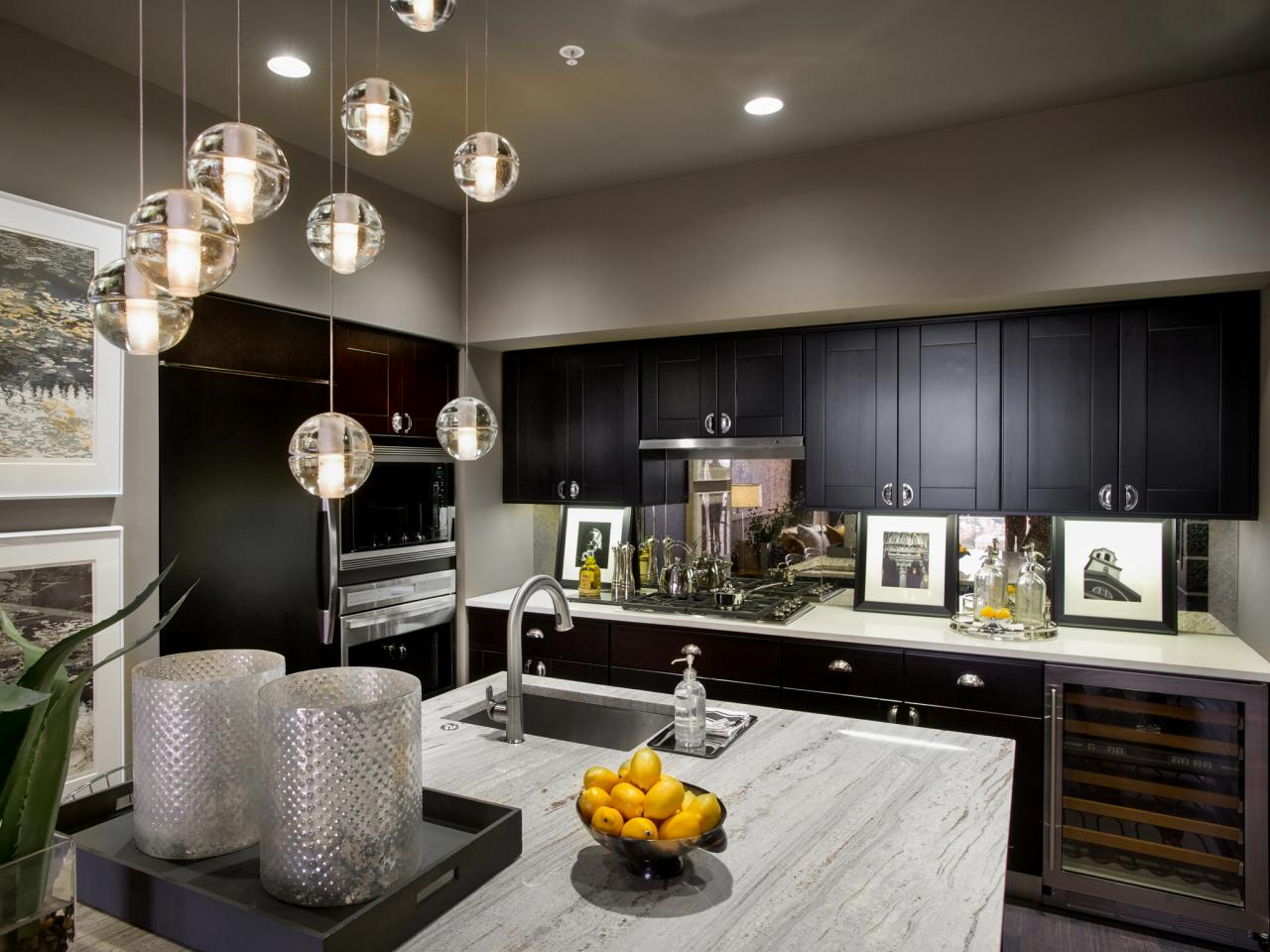 Modern kitchen paint colors pictures ideas from hgtv hgtv for Kitchen colors with white cabinets with modern black and white wall art